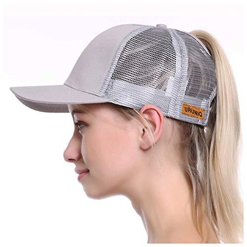 Ponytail Hats for Women Messy Trucker Hat Plain Ponytail Baseball Visor Cap  Dad Hat Mother s Day 3ca22c760da1