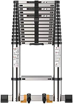 Escalera telescópica Extra Alto Escalera de extensión con Barra estabilizadora, Portátil de Aluminio ático/Techo/Exterior/Industrial, Carga 150kg (Size : 2.7M/9ft): Amazon.es: Hogar