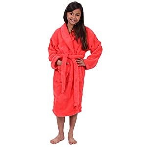 Turkuoise Girls Ultra Soft Plush Bathrobe Made in Turkey
