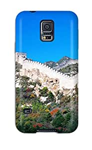 Hard Plastic Galaxy S5 Case Back Cover,hot Locations Great Wall Of China Case At Perfect Diy