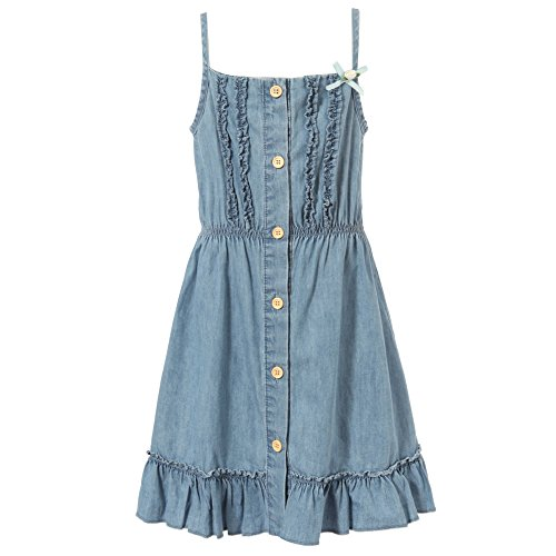 Richie House Girl's Slip Dress with Buttons and Elastic Waist RH1814-3/4-FBA