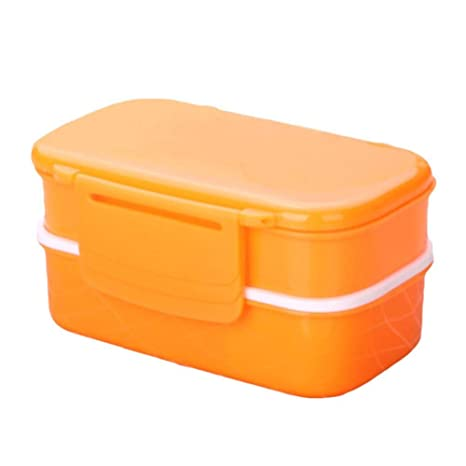 Cranky Orange Lunch Box Naranja Color Double Layer Food Box ...