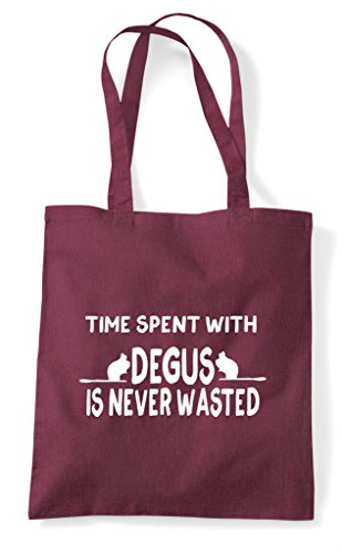 Is Tote Degus Burgundy Spent Never Time Bag With Wasted Shopper Funny q6SwpTt