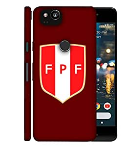 ColorKing Football Peru 07 Red shell case cover for Google Pixel 2