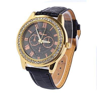 Bheema la señora del diamante doble cara cinta dircular movimiento china relojes relojes de pulsera (