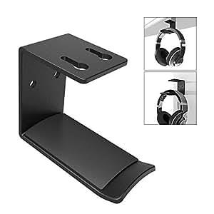 Headphones Hook Mount, 6amLifestyle Under Desk Space Saving 3M Headset Holder Hanger Wall Mount Earphone Holder Display for Sony, Sennheiser, Beats, Audio-Technica, Bose, Shure, AKG Hook