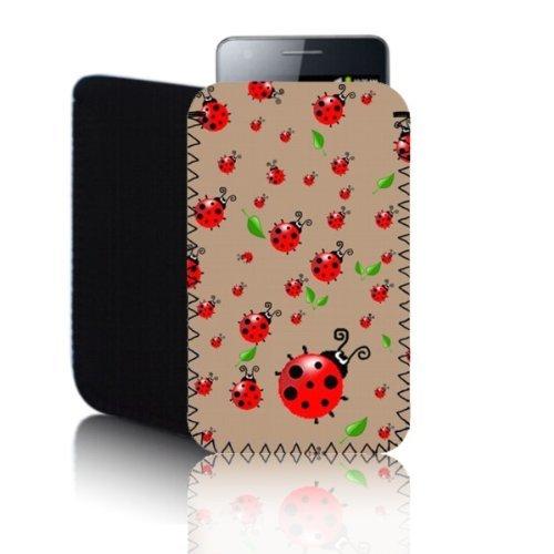 Biz-E-Bee Phonecase Exclusif 'Coccinelle' Café Nokia Lumia 820(L) résistant aux chocs en néoprène pour Téléphone portable, Housse, Pochette