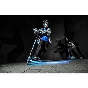 Lightweight Strong Performance Blue Frame Light-up LED Viper Scooter