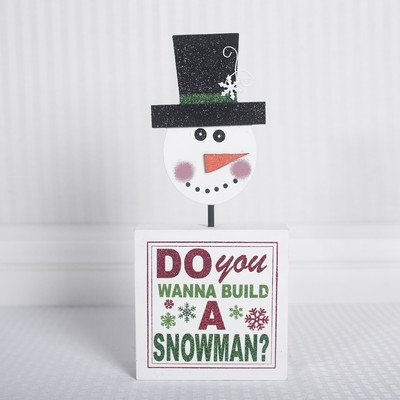 'Do You Wanna' Block with Snowman