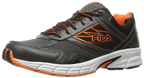 Fila Men's Royalty 2 Running Shoe, Dark Shadow/Vibrant Orange/Black, 8.5 M US