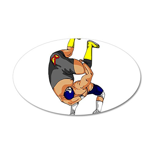 CafePress - Fisherman Suplex - 35x21 Oval Wall Decal, Vinyl Wall Peel, Reusable Wall Cling