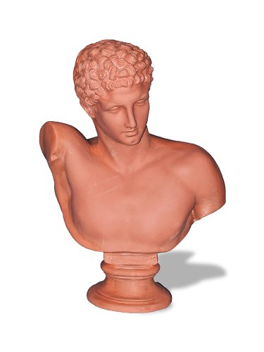 Amedeo Design ResinStone 2200-3T Hermes Bust, 13 by 22 by 32-Inch, Terra Cotta (Fiberglass Furniture Patio Vintage)