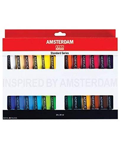 Amsterdam Acrylic Paint - Royal Talens Amsterdam Acrylic Standard Tubes, 20ml-Tubes, Set of 24 (100516105)