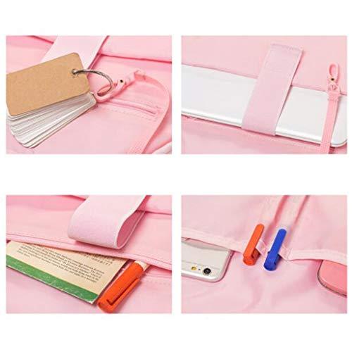 Pink 300x150x400mm Qxjpz Del Da Grande colore Dimensioni Temperamento Studente Pink Moda Viaggio Semplice Zaino Retrò Computer Borsa Capacità S6wqSp1r