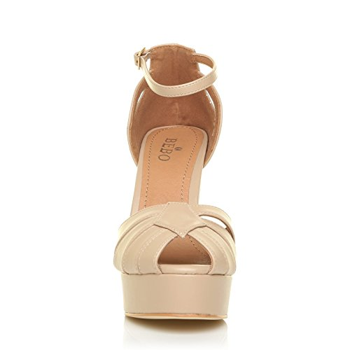 ShuWish NUDE UK femme pour Sandales beige PU wx100q6pT