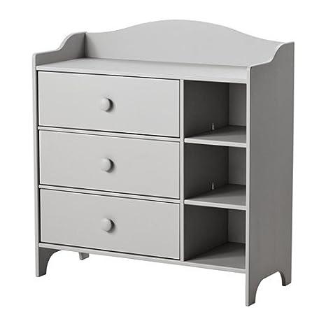 IKEA TROGEN - Cómoda, gris claro - 100x108 cm: Amazon.es: Hogar