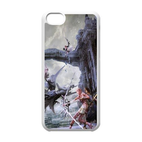 Final Fantasy Xiii 9 399 coque iPhone 5C Housse Blanc téléphone portable couverture de cas coque EOKXLLNCD10479