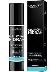 Gel Facial Hidratante con Ácido Hialurónico + Niacinamida + Alga Wakame - 97% Ingredientes Naturales - Hidratación Extrema- Suavidad- Aumenta la Luminosidad Natural de tu Piel- Oil-Free- Ideal Para Todo Tipo de Piel- Hidratante facial de rápida absorción- 50ml