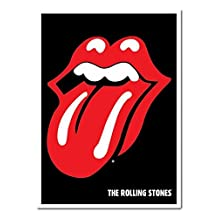 The Rolling Stones Lips Logo Poster Magnetic Notice Board White Framed - 96.5 x 66 cms (Approx 38 x 26 inches)
