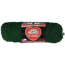 Coats: Yarn Red Heart Classic Yarn, Forest Green