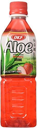 OKF Aloe: Strawberry Aloe Drink 10/16.9 Oz. Case