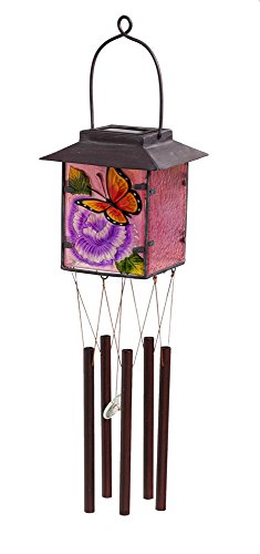 Evergreen Butterfly House (Evergreen Butterfly Glass House Solar Wind Chime)