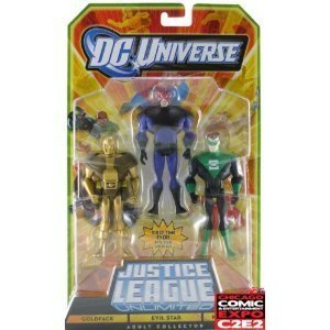 - DC Universe Justice League Unlimited Action Figure 3Pack Goldface, Evil Star Kyle Rayner