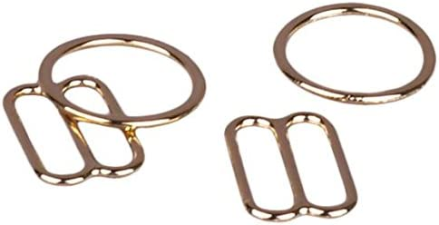 Opening - Porcelynne Gold Metal Alloy Replacement Bra Strap Slide and Ring Set 1//2 2 Rings - 2 Slides 13mm
