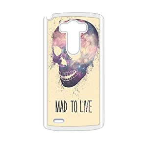mad to live skull personalized high quality cell phone case for LG G3