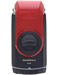 Braun Mobile Pocket Shaver M60 Red, 3.2 Ounce