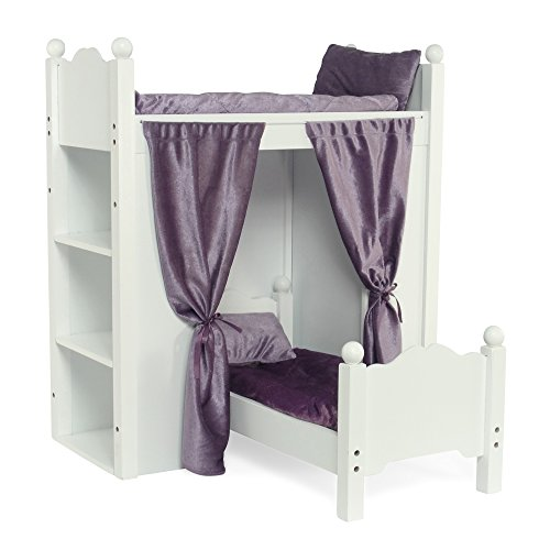 Fits American Girl Doll Loft Bunk Bed Furniture With Shelves Storage 18 Inch Dolls