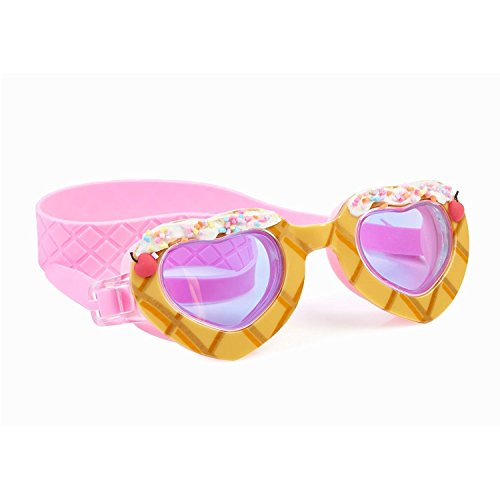"Bling2o Goggles Kids Swim Goggles - ""Sparkle Hearts"" Kids Swimming Goggles with Anti Fog UV Protection and Custom Kid Goggles Hard - Goggles Custom"