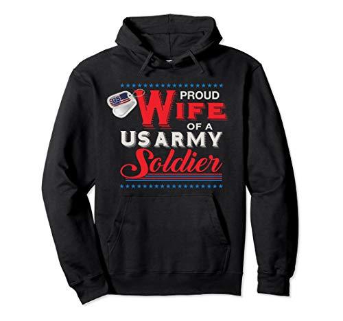 US Army Proud Wife Hoodie