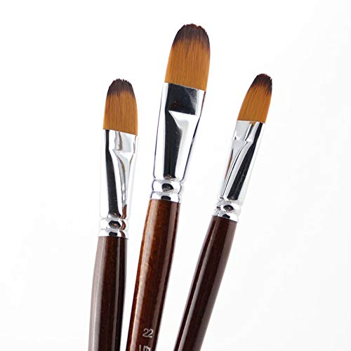 Art Markers|13Pcs Artist Filbert Nylon Hair Acrylic Painting Brush Set For School Children Drawing Tool Brush Art Supplies|by ATUSY