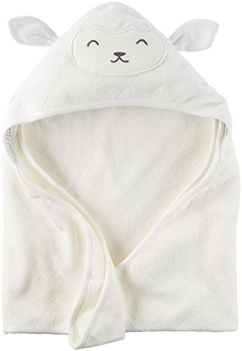 Carter's Hooded Bath Towel - Little Lamb - White by Carter's