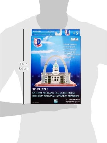 3D paper puzzle building model toy Jefferson National Expansion Memorial US gift