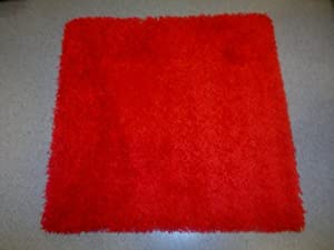 IKEA RED SQUARE RUG, HIGH PILE, 80cmX80cm