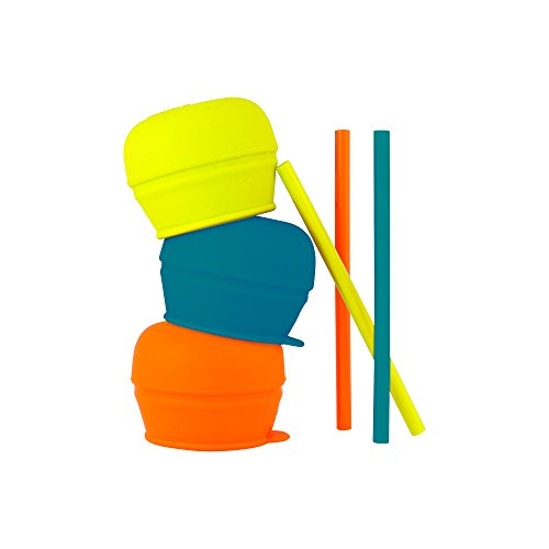 Boon SNUG Straw, Blue/Orange/Green (Best Sippy Cups For Toddlers 2019)