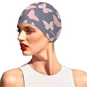 BALNEAIRE Silicone Swim Cap for Women, Waterproof Long Hair Swimming Caps