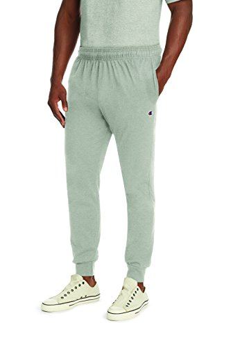Champion Men's Jersey Jogger, Oxford Gray, M