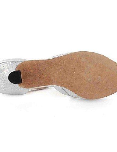 de Noir Argent Talon Black danse Latine Or Similicuir Chaussures Personnalisé Gris Bleu ShangYi Personnalisables wBtXqx