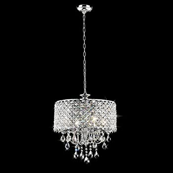 chrome finish 4light round chandelier