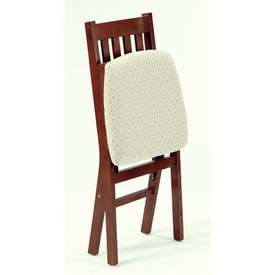 Arts and Crafts Folding Chair in Warm Cherry Finish - Set of 2