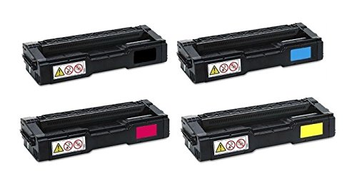 Toner Eagle Compatible 4-Color Toner Cartridge for use in Ricoh SP C250 C250DN C250SF C261SFNw. Replaces Part # 407539, 407540, 407542 and 407541. -