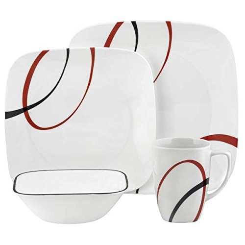 Fine Lines Square 16 Piece Dinner Set