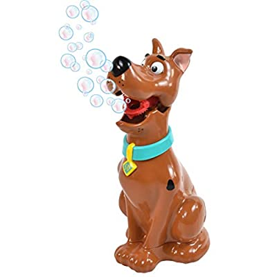 Sunny Days Entertainment Maxx Bubbles Scooby-Doo Bubble Machine – Durable Automatic Bubble Blower for Kids Parties | Includes Bubble Solution: Toys & Games
