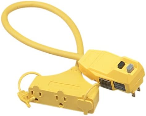 COLEMAN 148802-28-6 (02837) 25FOOT 12/3SJEOW-A GFCI TRI-SOURCE YELLOW POLAR/SOLAR ALL WEATHER EXTENSION CORD