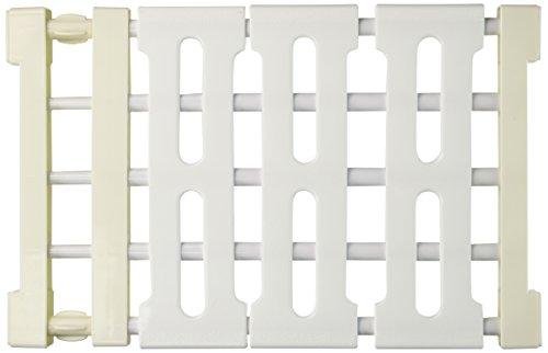 Gogglire Innovative Telescopic Tiered Storage Rack Closet Space Separator for Kitchen, Bathroom, Living room, Balcony, Corridor Free Drill Multifunction Plastic Racks, 38-55cm, White by Gogglire