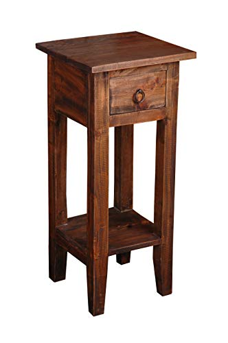 Sunset Trading Shabby Chic Cottage End Table, Small One Drawer, Raftwood (Accents Cottage)