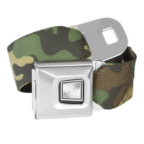 Camouflage Classic Seatbelt Buckle Fashion Belt (Buckle Belt Camo Seat)